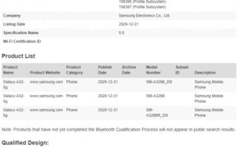 Samsung Galaxy A32 5G gets Bluetooth certified