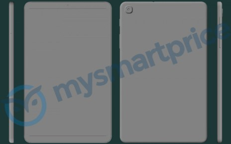 Samsung Galaxy Tab A 8.4 (2021) surfaces in rough CAD-based renders
