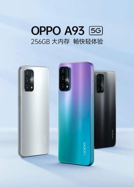 Oppo A93 5G terdaftar di situs web pengecer Cina dengan layar 90Hz