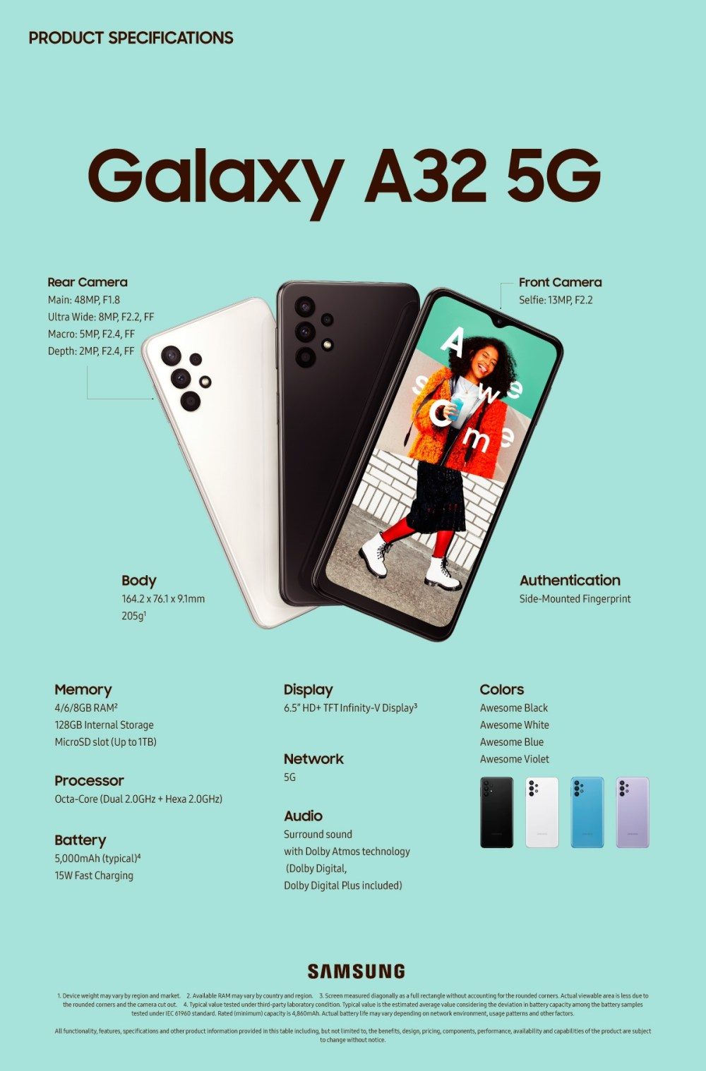 Samsung Galaxy A32 5G unveiled: its cheapest 5G phone yet starts at €280