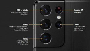 Advanced quad camera on the S21 Ultra
