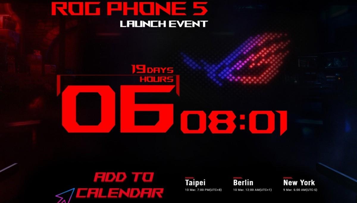 Asus ROG Phone 5 akan hadir pada 10 Maret