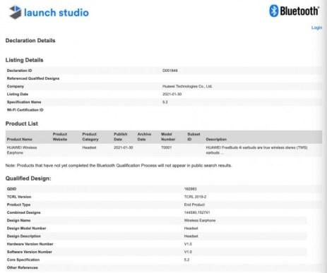 Huawei FreeBuds 4i appear in Bluetooth SIG listing
