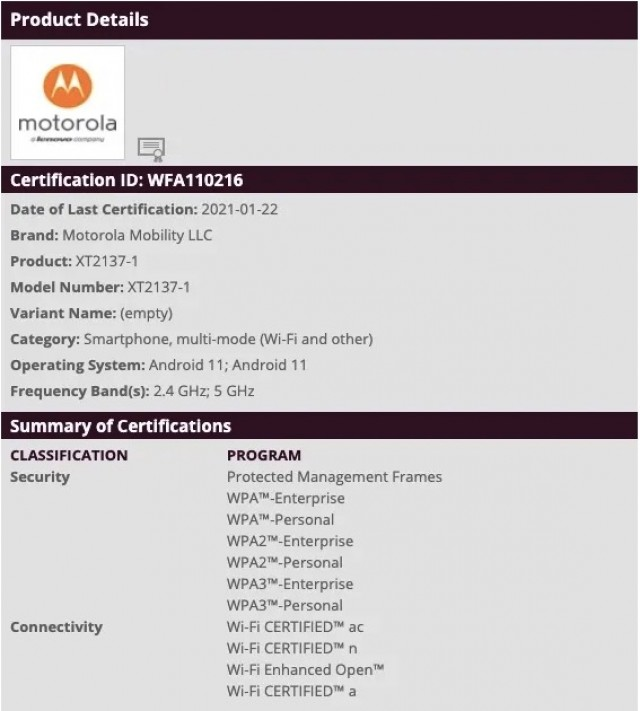 Daftar Moto Ibiza Wi-Fi Alliance