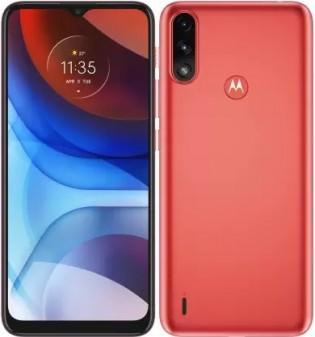 Motorola Moto E7 Power dalam warna Coral Red