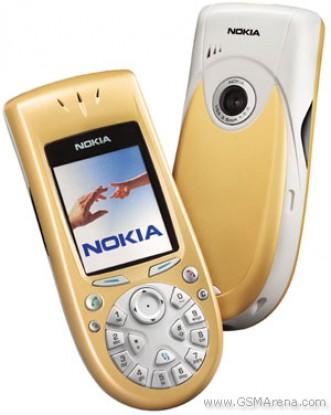 Nokia 3650 dengan warna kuning dan biru