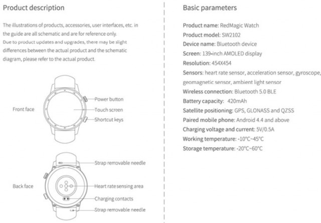 RedMagic Watch user manual