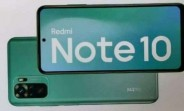 The Redmi Note 10 retail box features an AMOLED display, 48MP main camera