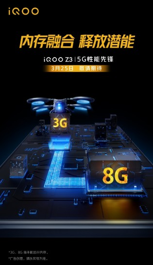 iQOO Z3 will come with Snapdragon 768G SoC and 8GB RAM