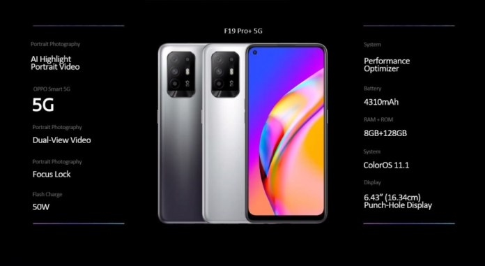 Oppo F19 Pro series announced with Dimensity 800U chipset and 50W charging