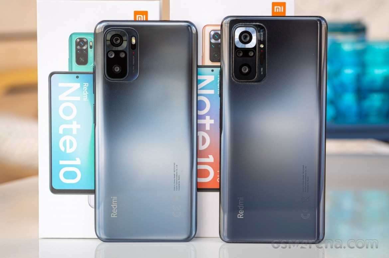 Redmi Note 10 (left) and Redmi Note 10 Pro (right)