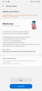 Samsung Galaxy A50s is a new firmware version (A507FNXXU5CUB3)