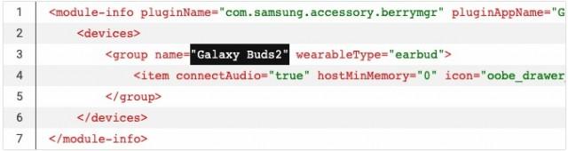Galaxy Buds2 moniker from Galaxy Wearable APK teardown