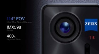 48 MP ultra wide camera with a gimbal stabilization system