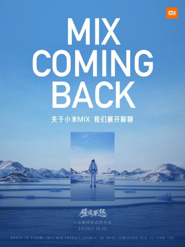 Xiaomi Mi Mix akan kembali pada acara 29 Maret