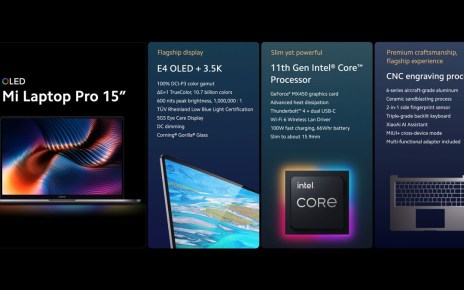 Xiaomi announces 15″ laptop with E4 OLED display, 14″ model with 120 Hz LCD follows