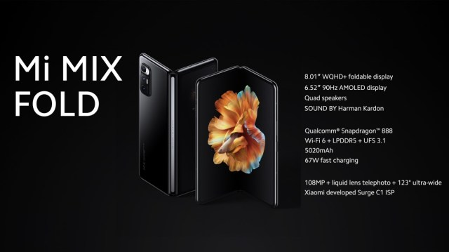 Xiaomi's foldable Mi Mix Fold brings the first liquid lens with 3-30x magnification