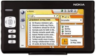 The Nokia 770 Internet Tablet from 2005 was a very early attempt at the