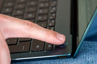 Nose-cam and fingerprint power button