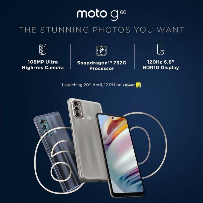 Motorola teases Moto G60 and Moto G40 Fusion key features