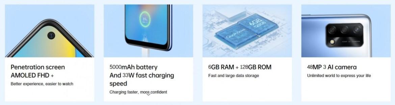 Oppo A74 4G highlights