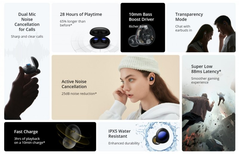 Realme Buds Air 2 Neo unveiled: lower price, same Active Noise Cancellation