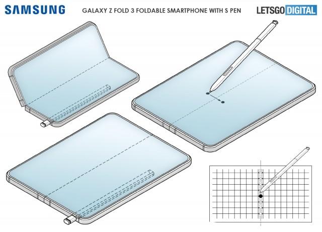 Samsung Galaxy Z Fold3 with S Pen stylus
