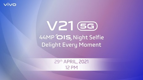 vivo V21 5G's design detailed ahead of April 27 unveiling