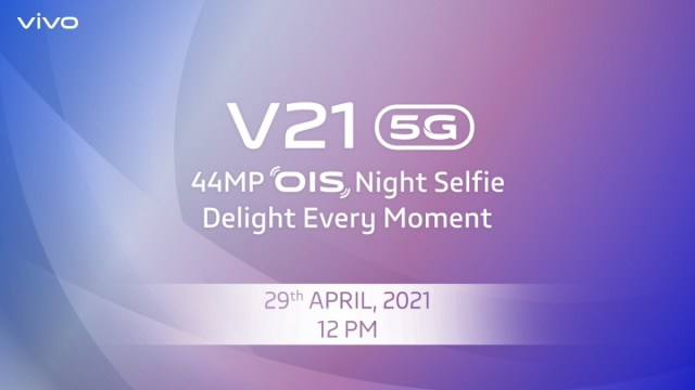 vivo V21 5G's design detailed ahead of next week's launch