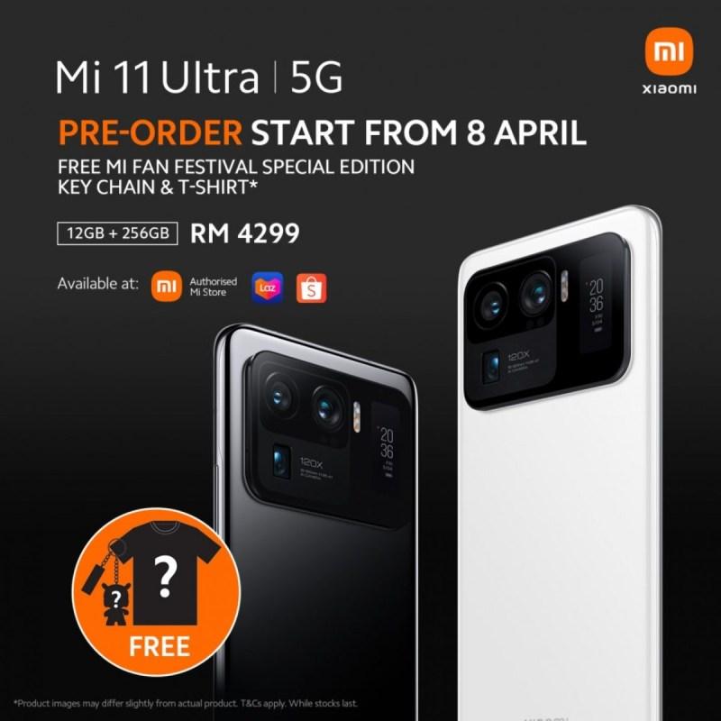 Xiaomi Mi 11 Ultra global sales begin from Malaysia