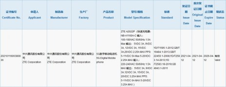 ZTE Axon 30 Ultra gets 3C certification with 66W charger