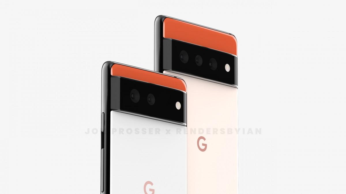 Google Pixel 6 (kiri) dan Pixel 6 Pro (kanan)
