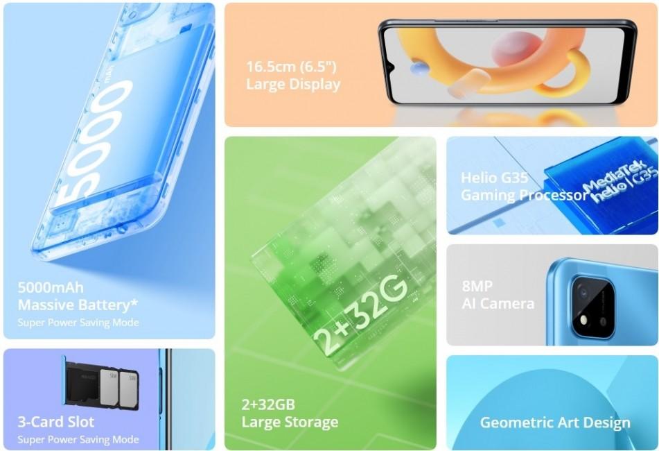 Realme C20A mengumumkan: Helio G35, layar 6,5 '', dan baterai 5.000 mAh