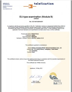The Realme GT 5G (RMX2202) is certified for use in the EU