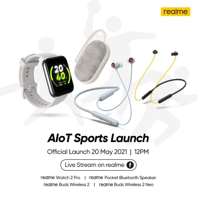 Realme AIoT Sports Launch conference poster