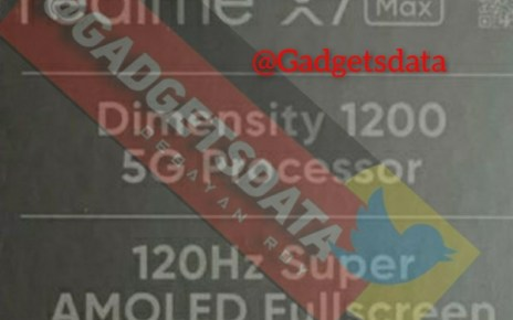 Realme X7 Max 5G's leaked box confirms specs of upcoming phone