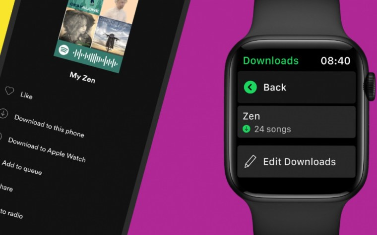 Spotify now lets you download songs to your Apple Watch