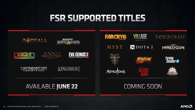 AMD releases FidelityFX Super Resolution, available in seven games today
