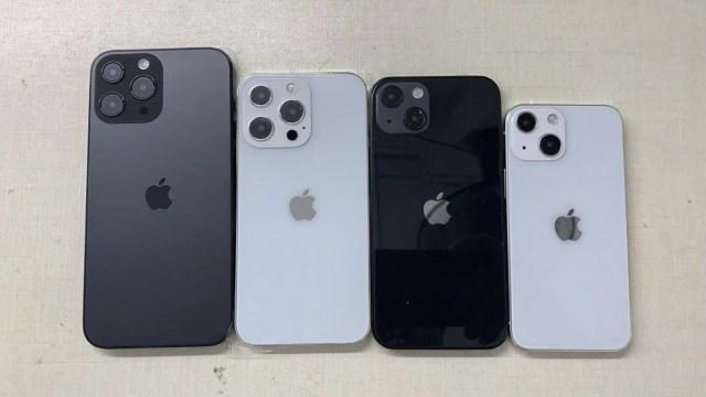 iPhone 13 Pro Max, 13 Pro, vanilla 13 and 13 mini
