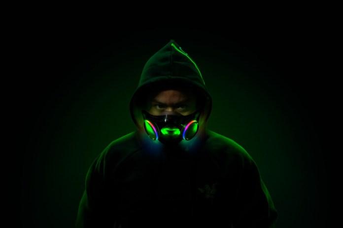 A máscara facial RGB da Razer, Projeto Hazel, deve chegar no quarto trimestre