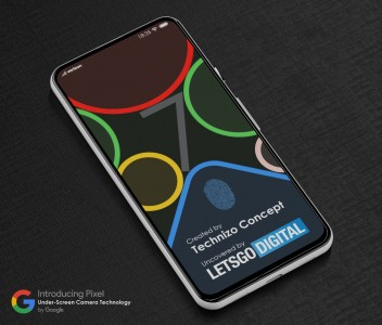 A concept rendering of a foldable Google Pixel