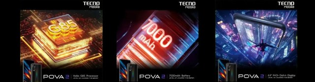 Tecno Pova 2 announced with Helio G85, 1080p+ display and a large 7,000 mAh battery