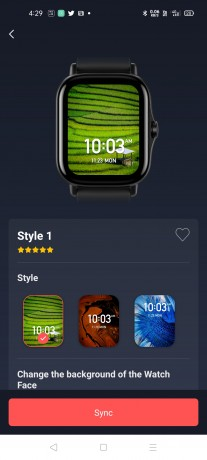 You can create a custom watch face for GTS 2 using the Zepp app