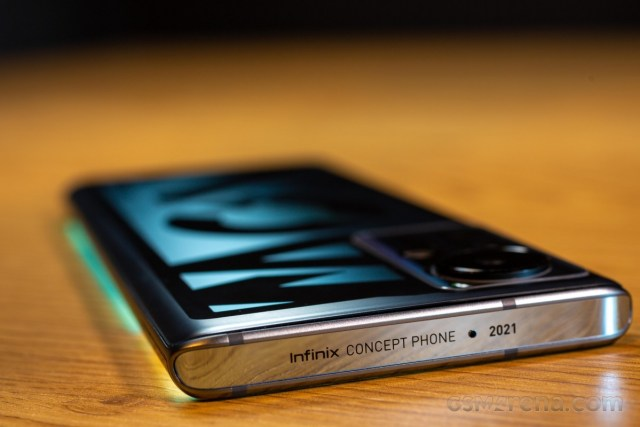 This concept phone demonstrates technologies that Infinix is developing for future products