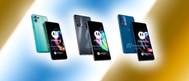 Leaked renders of Motorola Edge 20 lineup