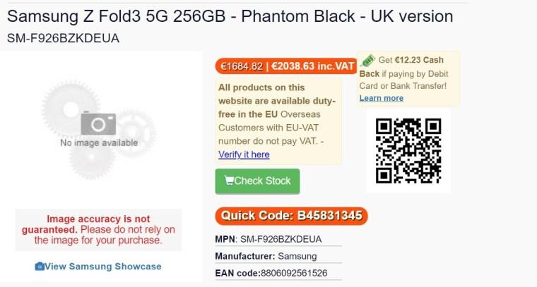 Samsung Galaxy Z Fold3 and Z Flip3 prices leak through European retailers, Dbrand shows off skins