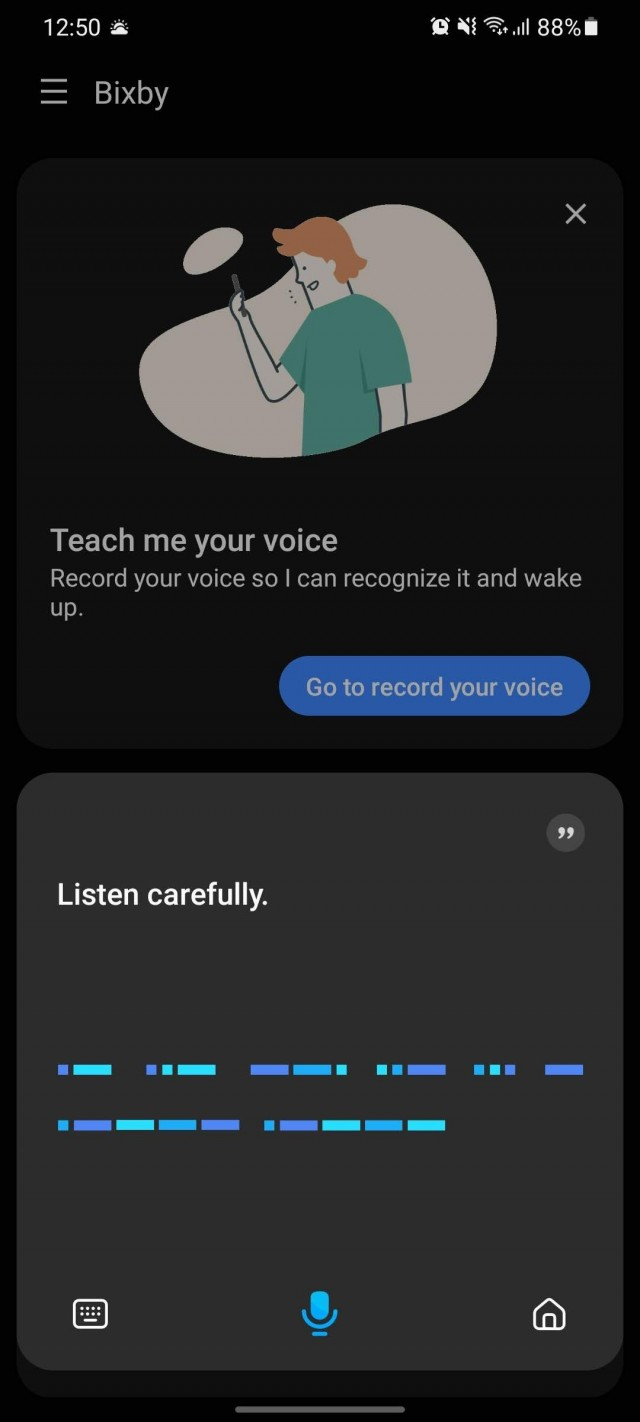 Ask Bixby to tell you when's the next Unpacked and you get Morse Code