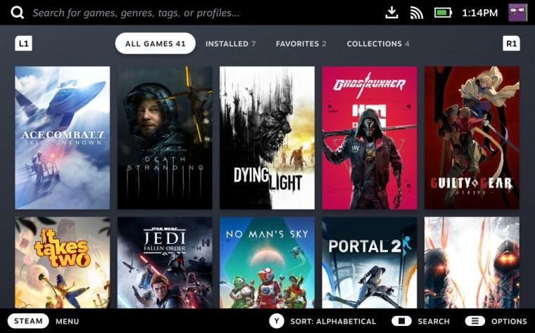 Valve Steam Deck is a handheld gaming PC that runs SteamOS