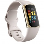 Fitbit Charge 5 dalam Lunar White/Soft Gold