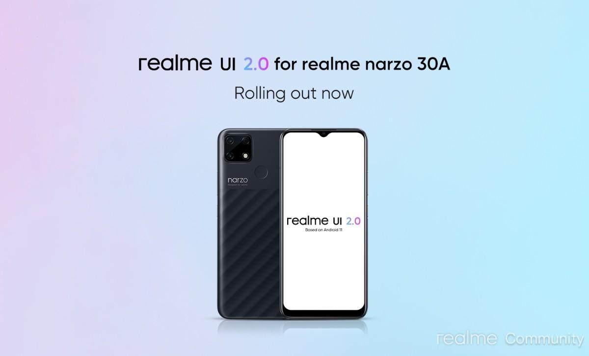 Realme Narzo 30A menerima pembaruan stabil Realme UI 2.0 berbasis Android 11